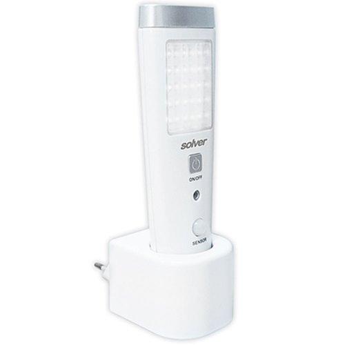 luminária led slim com sensor e lanterna 2w à bateria de lítio 110v