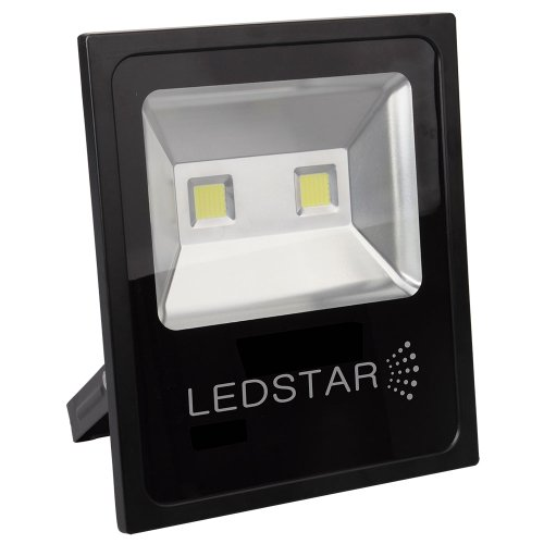 refletor led ultra slim 100w 5000k branca com alça articulada