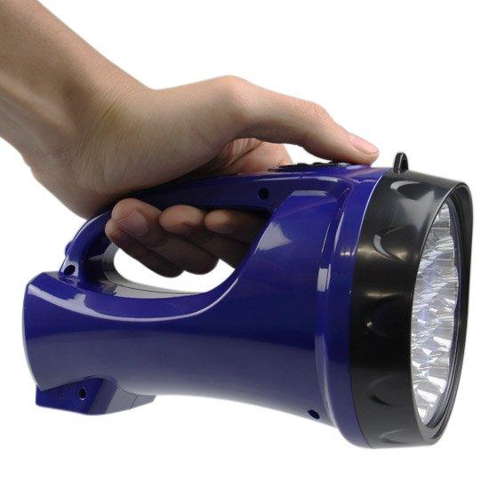 Lanterna Holofote Recarregável com 19 Leds  - Imagem zoom