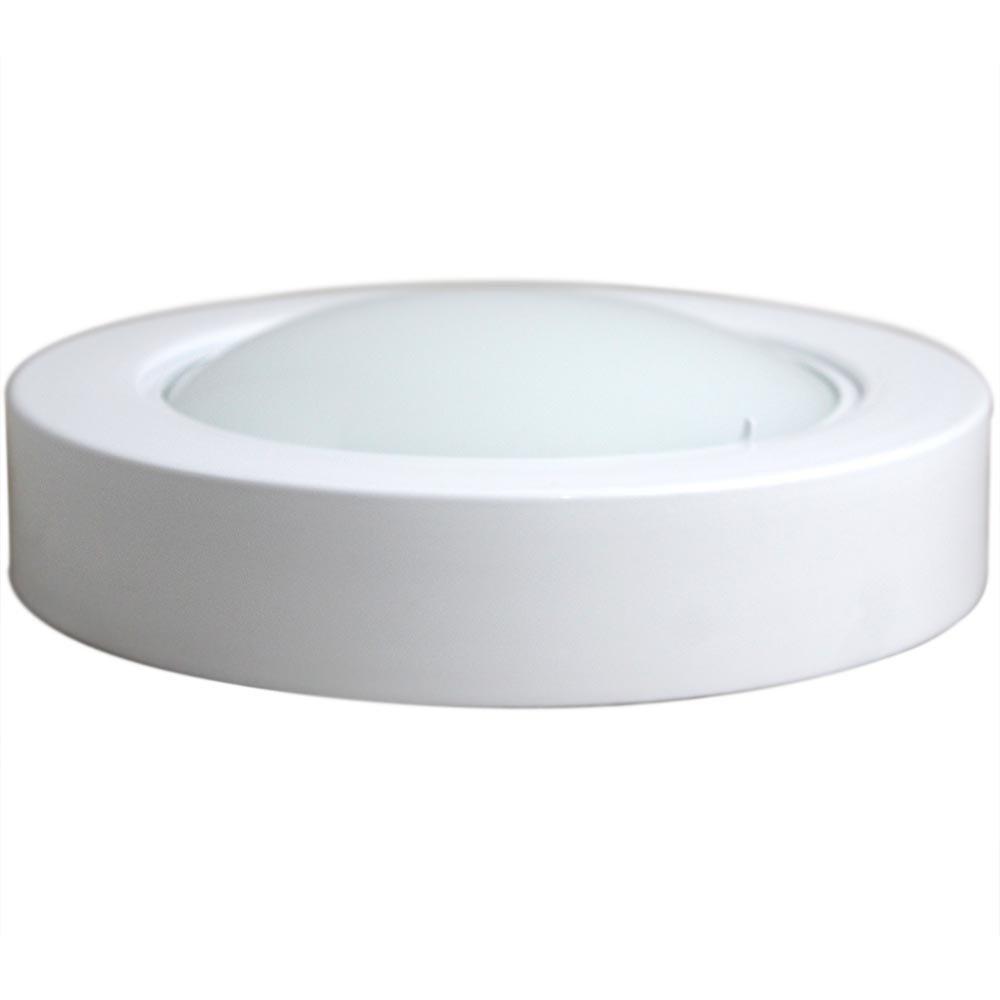Luminária Circular de Sobrepor com 46 Leds Brancas - 6500k - Imagem zoom