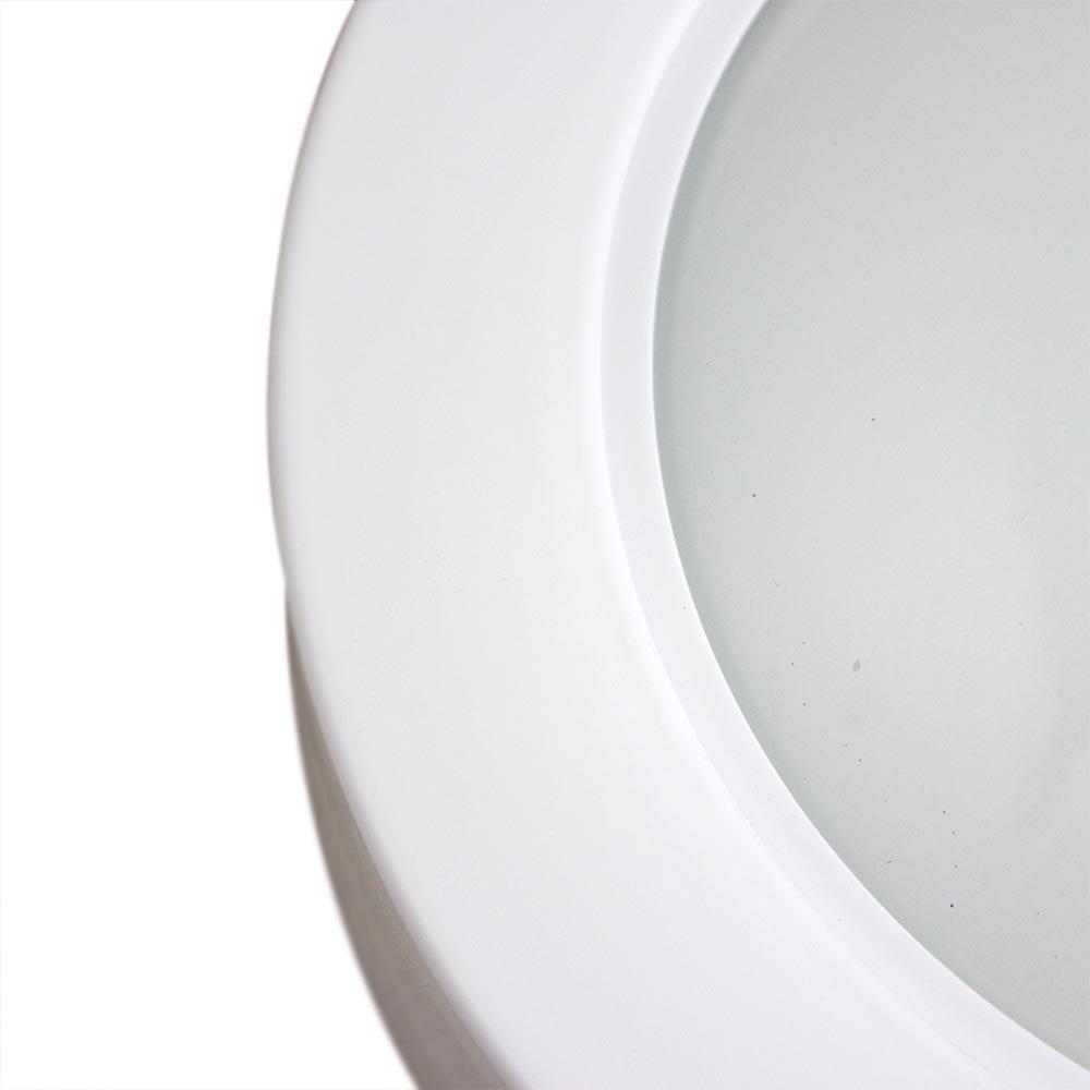 Luminária Circular de Embutir com 46 Leds Brancas - 6500k - Imagem zoom
