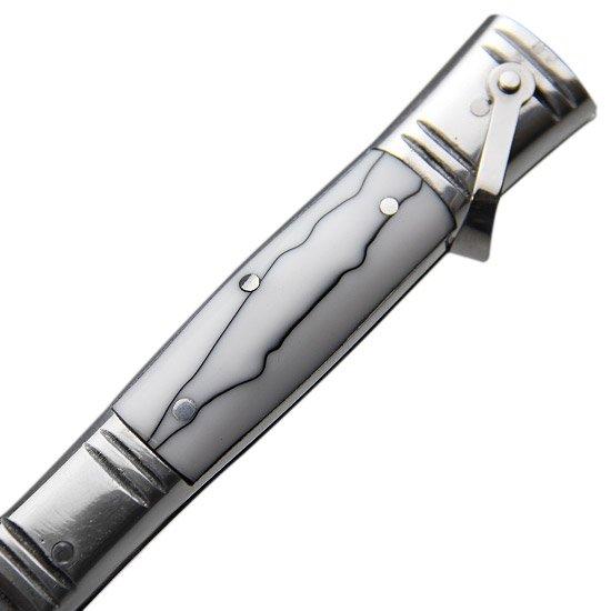 Canivete de Aço Inox com Cabo de Alumínio com Acrílico - Imagem zoom