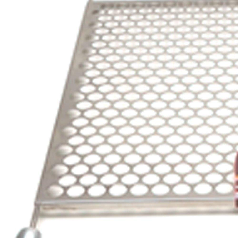 Grelha Moeda 45 x 50cm em Aço Inox para Churrasqueira - Imagem zoom