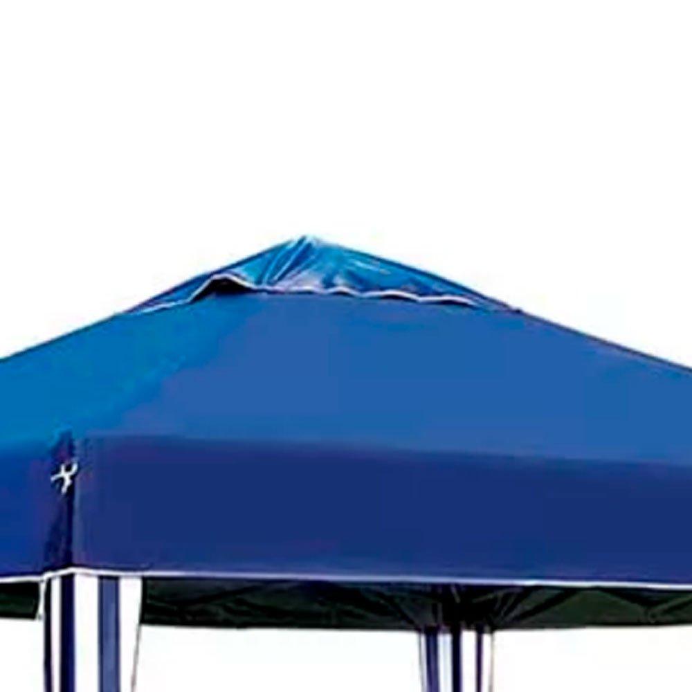 Gazebo X-Flex Oxford com Silvercoating Azul 3 x 3m - Imagem zoom