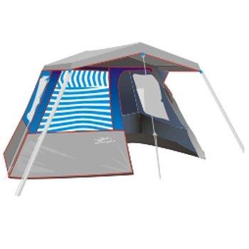 Barraca estrutural para 5 pessoas com hall e toldo - Imagem zoom