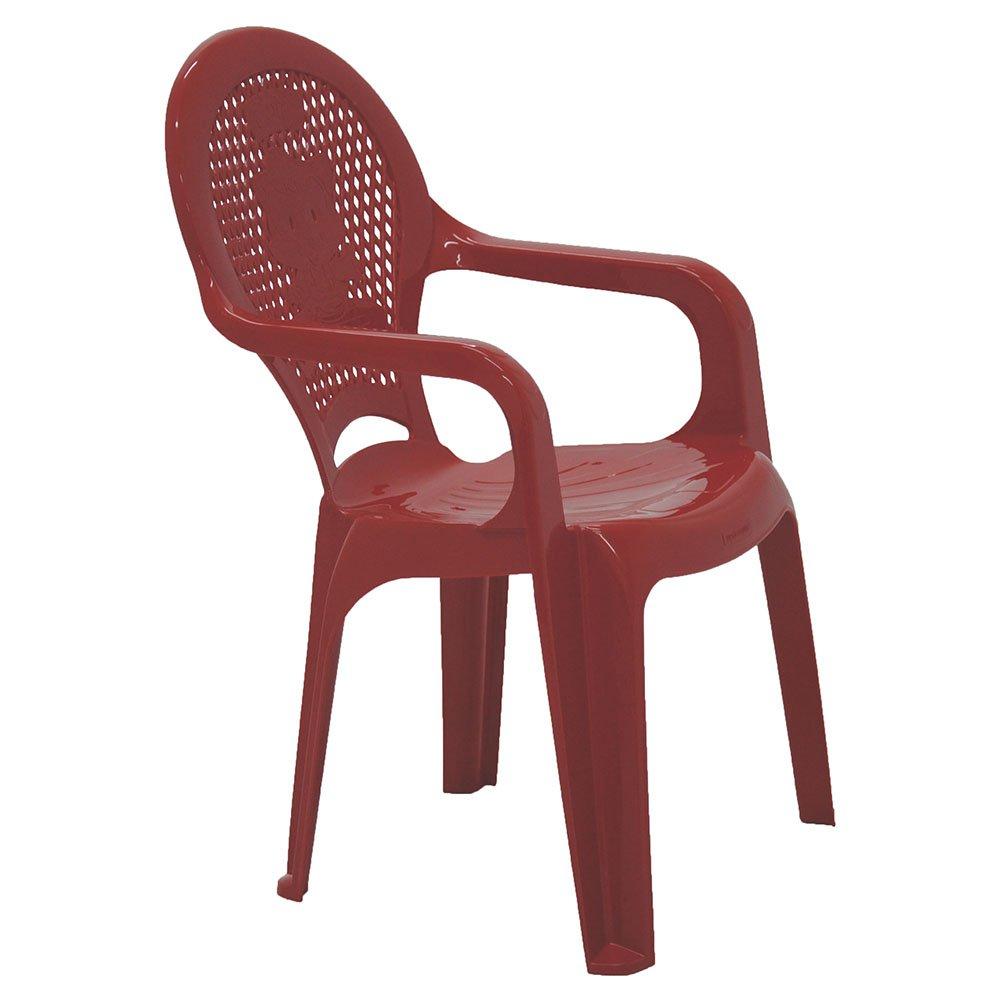 Cadeira Infantil Catty com Braços Estampada Vermelha - Imagem zoom