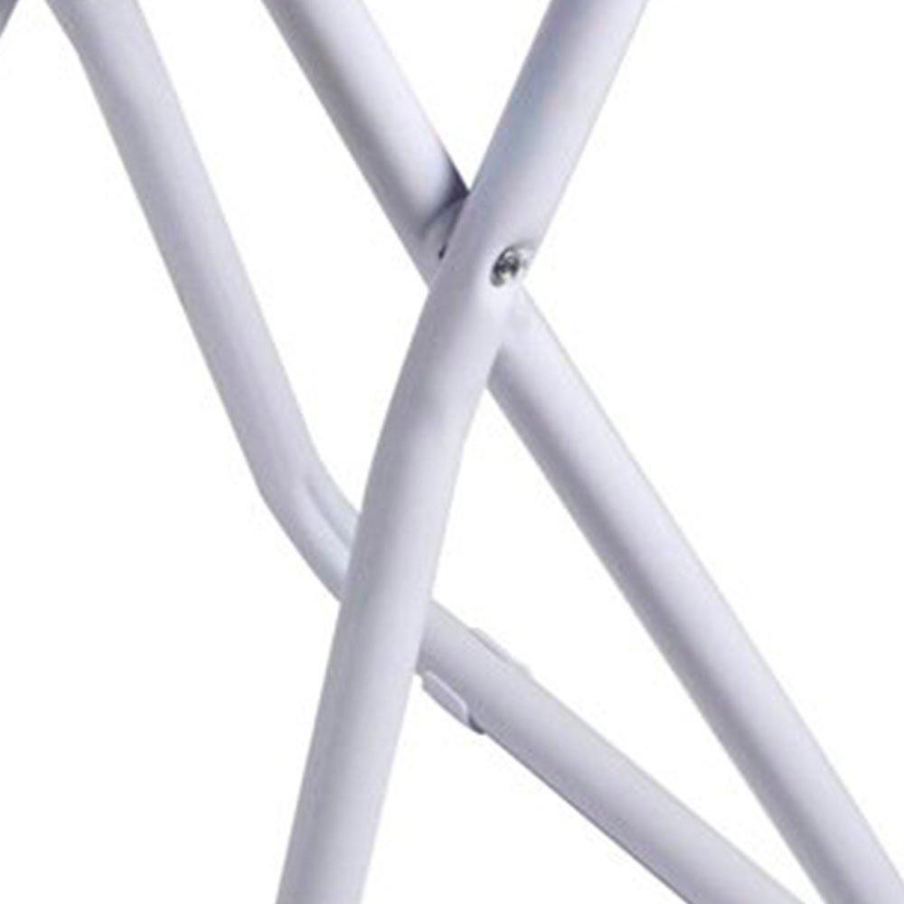 Banqueta Dobrável com Alça e Assento Branco - Imagem zoom