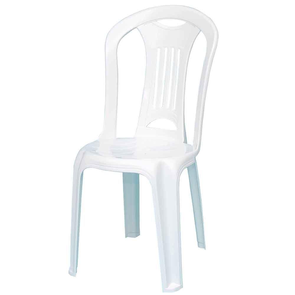Kit Mesa Redonda Branca Tramontina 92301010 + 4 Cadeiras Brancas Caravelas - Imagem zoom