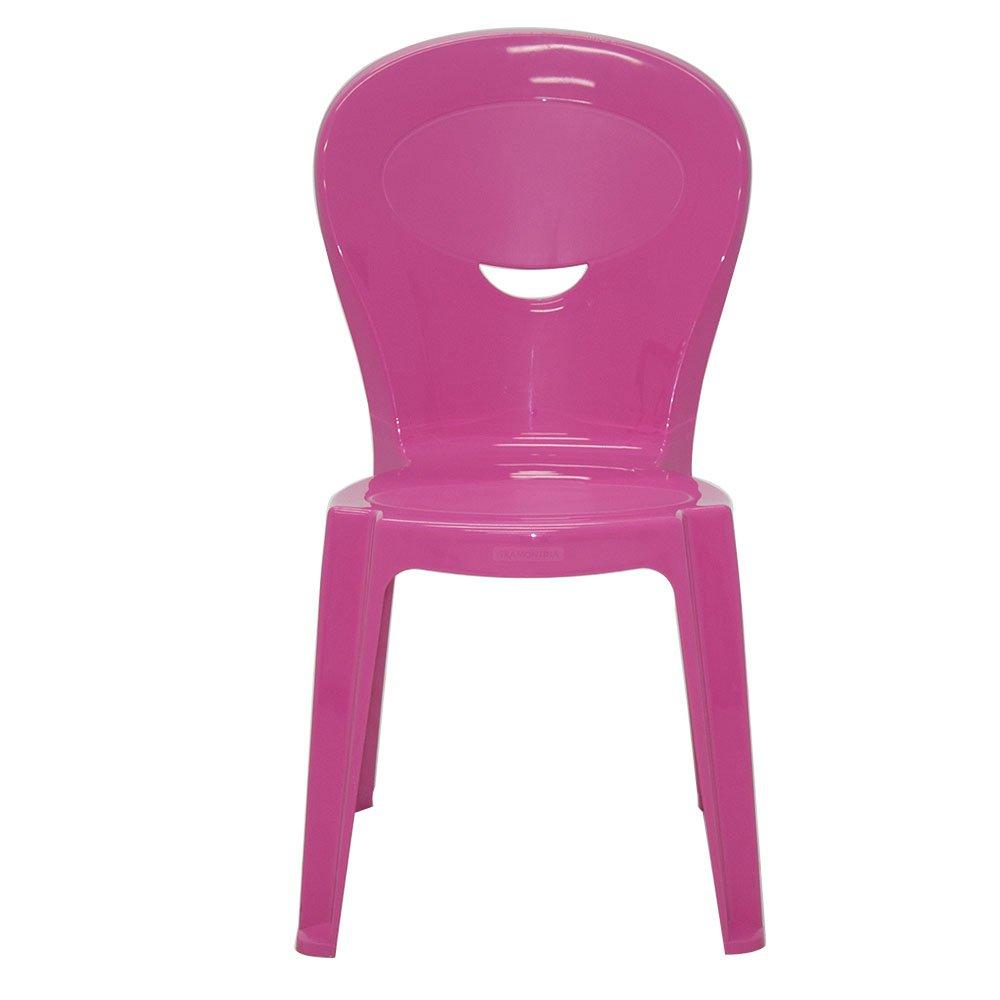 Kit Mesa Infantil Branca e Rosa Tramontina 92340016 + 2 Cadeiras Vice Rosas - Imagem zoom