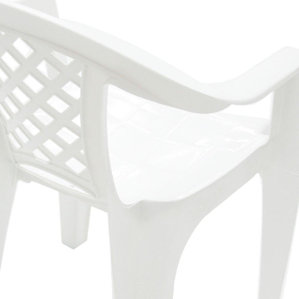 Poltrona Iguape Branca com Braços - Imagem zoom