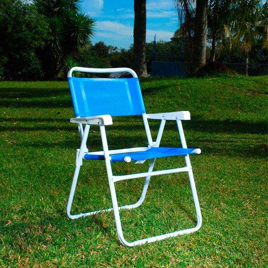 Cadeira Aço Master Azul - Imagem zoom