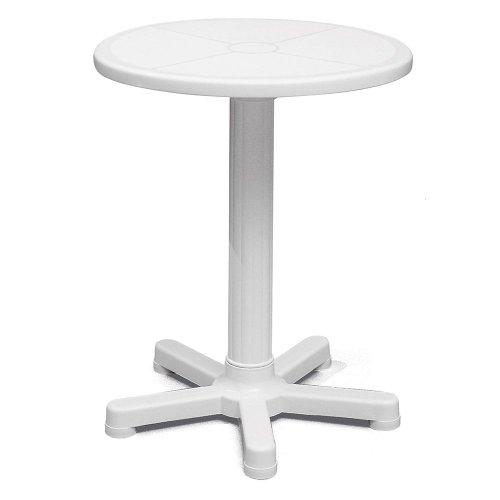 mesa redonda branca - capri