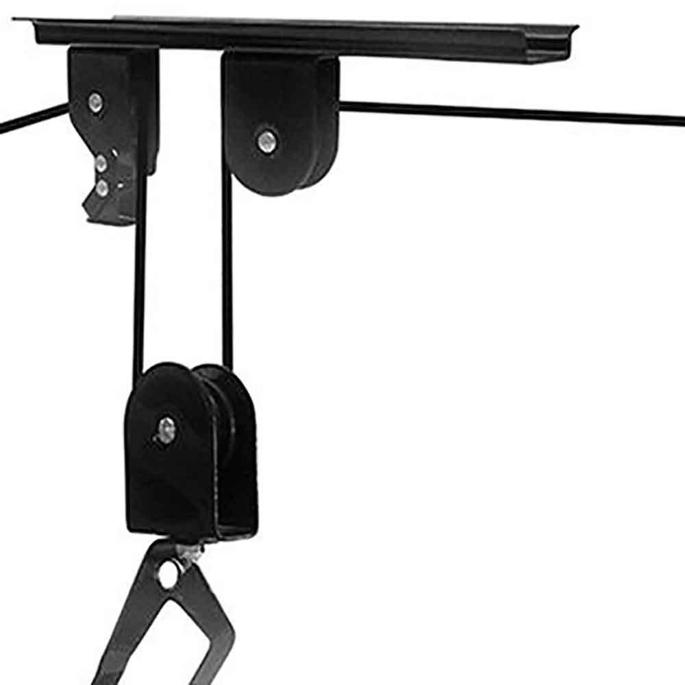 Suporte de Bicicleta Preto Vertical com Sistema de Elevação - Imagem zoom
