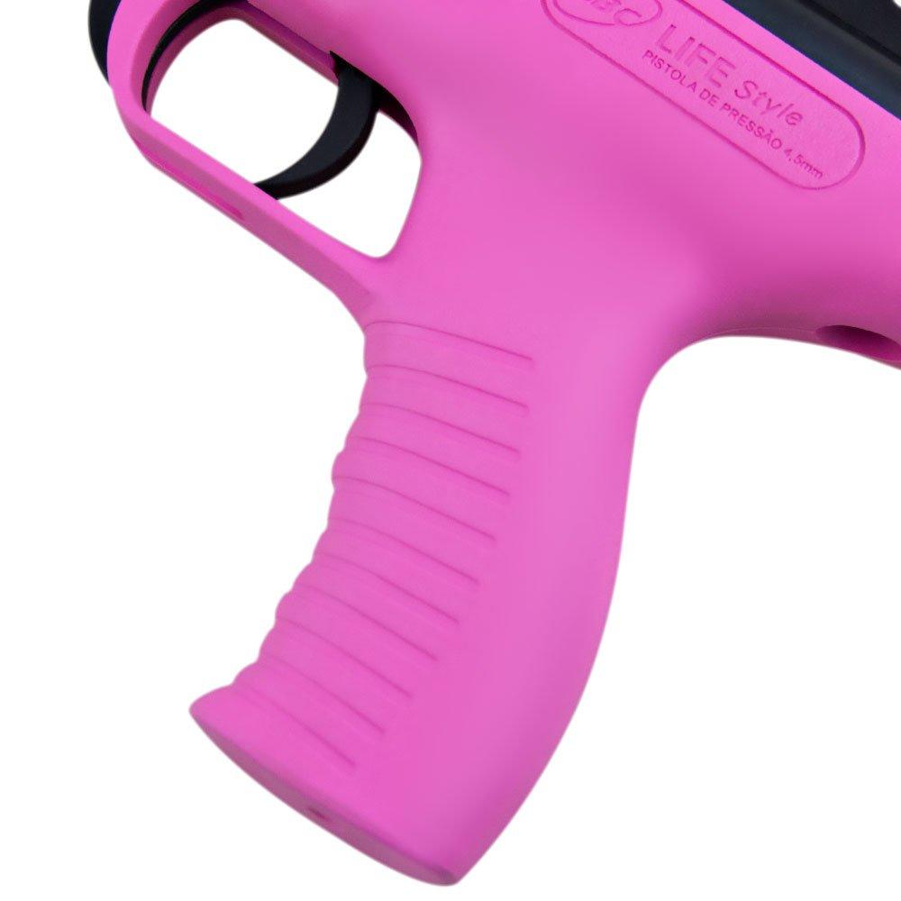 Pistola de Pressão 4,5mm Rosa Life Style - Imagem zoom